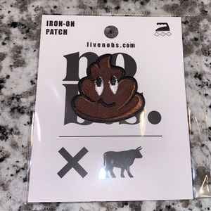 """Poop"" Emoji Iron On Patch BRAND NEW"